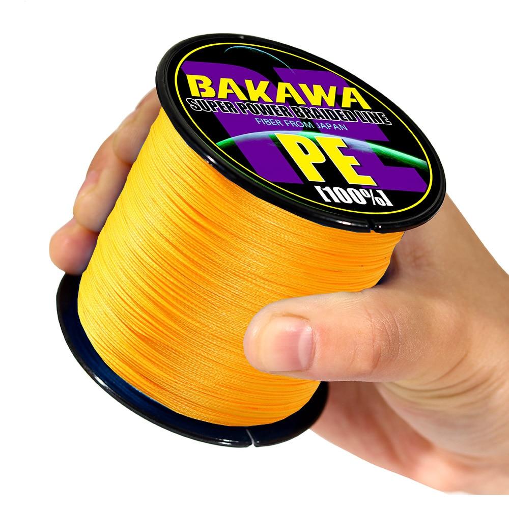 BAKAWA 4 плетеная леска Длина: 300 м/330yds диаметр: 0,2 мм-0,42 мм, размер: 10-85 фунтов Япония PE плетеная леска плавающая леска 4