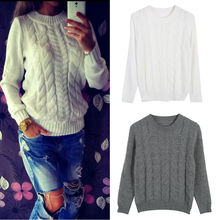Goocheer High Quality Fashion Casual Women Clothing Female Solid Color O-Neck Long Sleeved Knitted Sweater Soft Pullovers