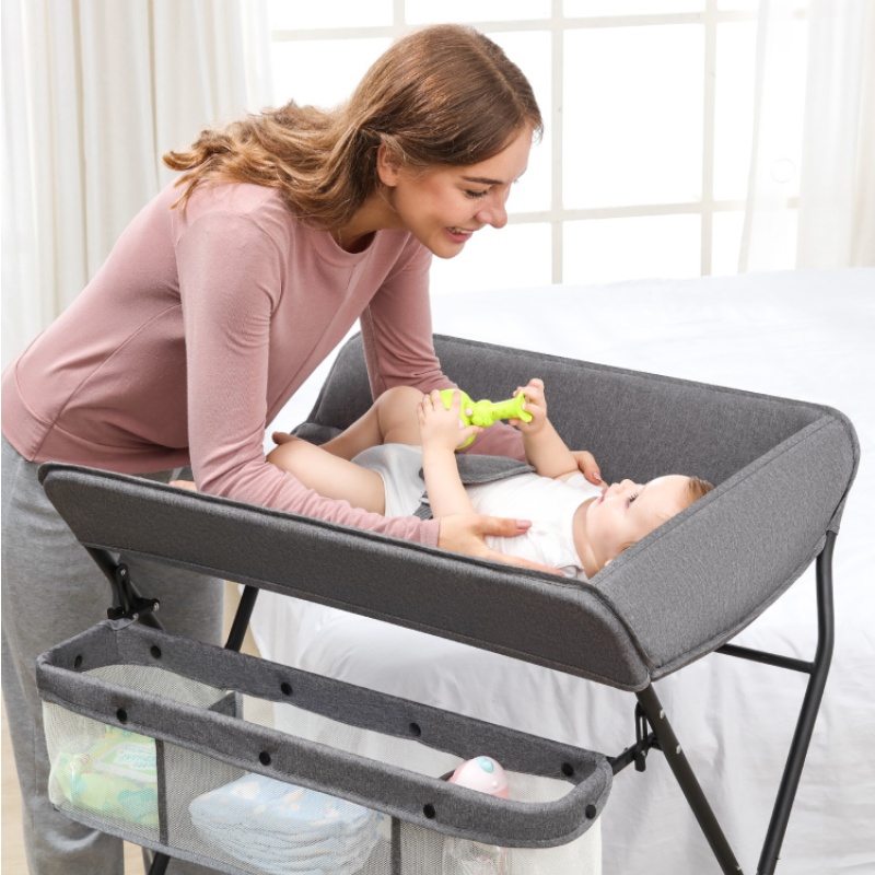 Baby Nursing Table Foldable Baby Diaper Changing Bathing Table Newborn Touching Massage Table Multifunctional
