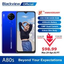 Blackview A80s 4GB 64GB 4gbb WCDMA/CDMA/LTE/GSM Octa Core Fingerprint Recognition/face Recognition