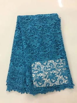 Blue Latest African Laces Fabrics Embroidered African Guipure French Lace Fabric 2018 African French Net Lace Fabric R12373