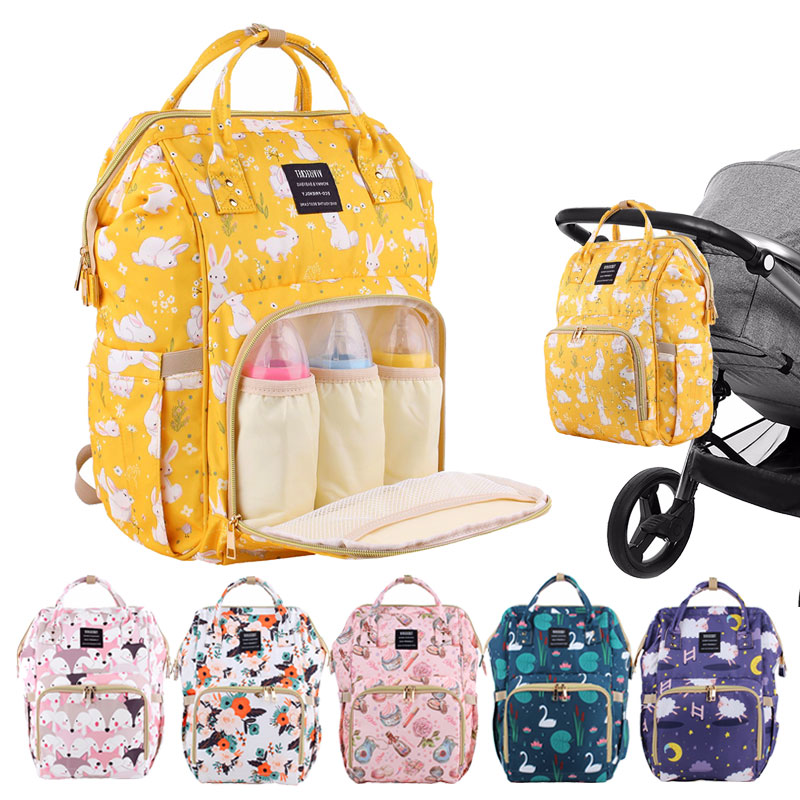 Diaper Bag Large Capacity Maternity Baby Bags Waterproof Travel Mummy Backpack Nappy Changing Bags Nursing Bag Wet Swan Mom Bag