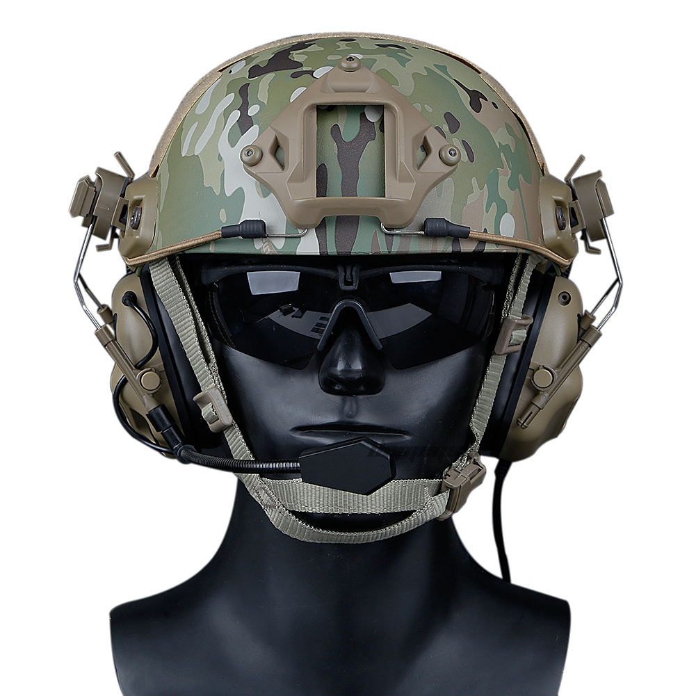 Tactical headset airsoft exército militar tiro paintball