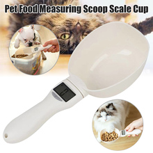 Pet Dog Food Measuring Spoon Weighing Scale Cup Feeding Bowls Portable for Kitchen DAG-ship