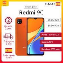 Xiaomi-Smartphone Redmi 9C, versión Global, pantalla HD de 6,53 pulgadas, Helio G35, ocho núcleos, batería de 5000mAh, triple Cámara ia de 13MP