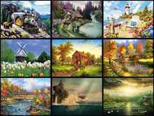 5d Diy Diamond Paintings, Diamond Embroidery Mosaics, Rhinestone Pictures, Resin Landscapes, Home Decoration Crafts