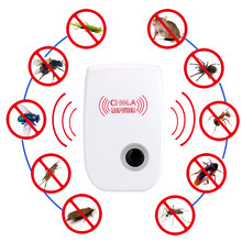 EU Plug Electronic Mosquito Repellent Indoor Cockroach Mosquito Insect Killer Rodent Control Ultrasonic Pest Repeller(China)