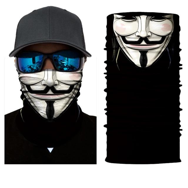 JAER Motorcycle 3D Orcs Clown Balaclava Joker V for Vendetta Mask Moto UV Protection Hat Helmet Liner Biker Face Shield 1