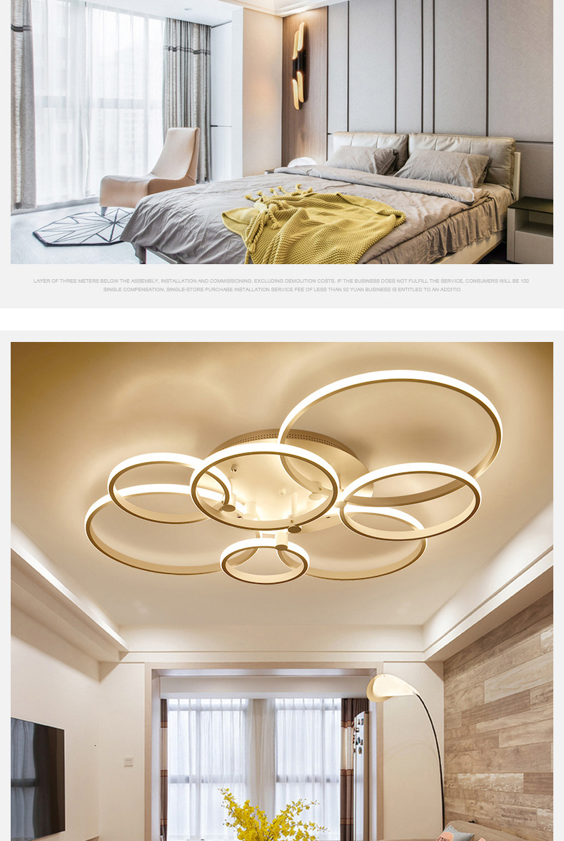 H7b639342288e434d87c6df1a446e45d3F Surface mounted modern led ceiling lights for living room Bed room light White/Brown plafondlamp home lighting led Ceiling Lamp