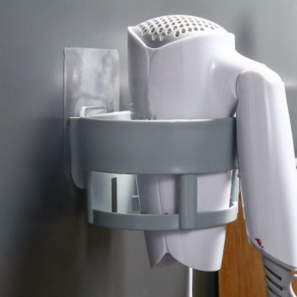 Hair Dryer Storage 4 Colors Holder Stand Wall Mounted Plastic Space Save Shelf Hairdrye Rack Bathroom Shelf Organizer Hook