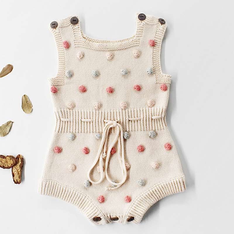 2020 New Spring Baby Lovely Rompers Summer Newborn Girls Boys Jumpsuits Outfits One Pieces Overall Toddler Kids Knitted Clothes