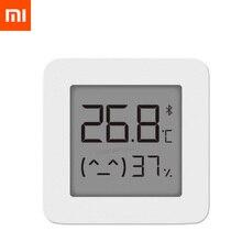 XIAOMI Mijia Bluetooth termometr 2 bezprzewodowy inteligentny elektryczny higrometr cyfrowy T hermometer praca z aplikacją Mijia