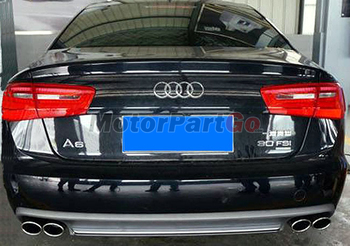 S Style High Quality PU Rear Diffuser Fit For Audi A6 Non-Sline Bumper 2012UP  A043F 1