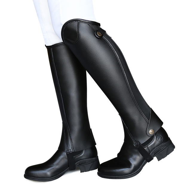 Cavassion Microfiber Bionic Equestrian Leather Riding Boots Half-Chaps For Kids & Adults  2