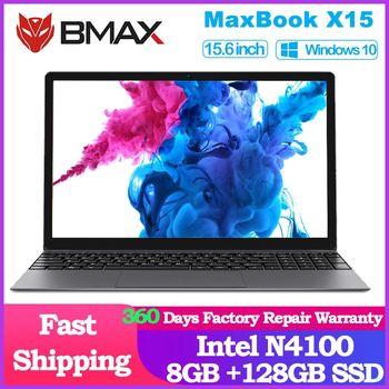 BMAX X15 15.6 inch Laptop 1920*1080 Intel Gemini Lake N4100 Intel UHD Graphics 600 8GB LPDDR4 RAM 128GB SSD ROM Notebook X15