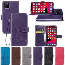 3D Flower Leather Case for Alcatel One Touch Pop 4 3 5.0 Plus 5.5 Idol 3 4 5.2 4.7 6039 6045 6055 Flip Phone Cases Cover(China)