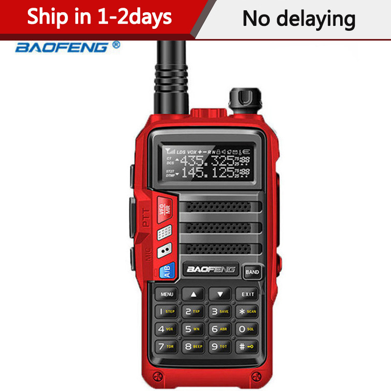 2020 BaoFeng UV-S9 High Power 8Watts Portable Walkie Talkie 10km Long Range CB Radio Transceiver for Hunt Forest City Upgrade 5R