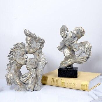 Sculpture Head Modern Abstract Art Resin Statue Decoration  6