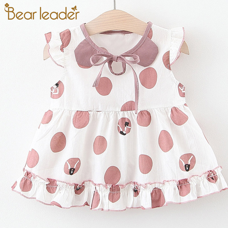 Bear Leader Baby Dresses New Summer Toddler Newborn Baby Girls Cute Dress Print Pattern Princess Outfits Baby Birthday Clothing