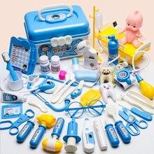 Dzieci zabawki do zabawy w lekarza zestaw chłopiec dziewczyna symulacja rodzina lekarz zestaw dzieci udawaj zagraj w narzędzia medyczne Educationa rola bawić się zabawkami