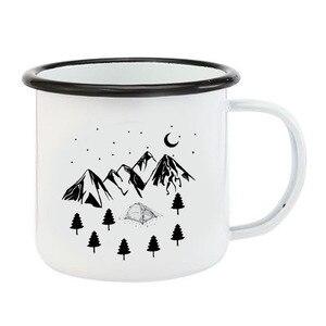 Image 2 - Tasse à café de Camping en acier inoxydable, tasses dextérieur en métal émaillé, tasses de feu de camp, personnalisées, pour anniversaire et noël