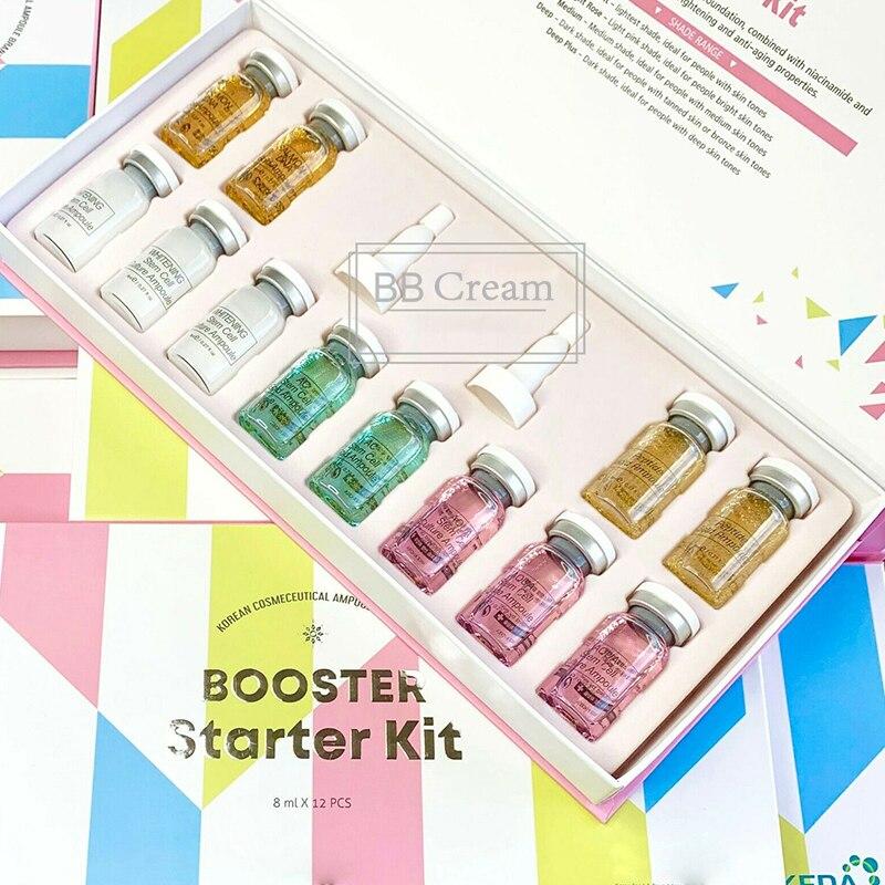 8ml Korean Cosmetics BB Cream Glow Ampoule Serum Meso White Brightening Serum For Whitening Acne Anti-Aging For BB Cream Machine