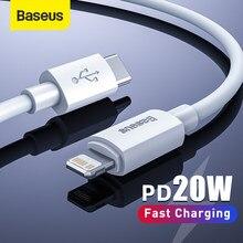 Baseus-Cable USB C de carga rápida para iPhone, Cable de carga rápida PD para iPhone 8 Xr, cargador de datos, tipo C, 12, 11, 20W