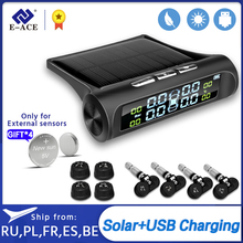 Pressure-Alarm-Monitor-System Car-Tire Tyre-Pressure E-ACE Temperature-Warning Solar-Power