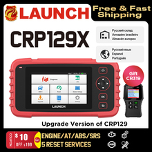 LAUNCH X431 CRP129X OBD2 Сканер диагностика авто сканер для диагностики авто Авто Считыватель кодов OBD Диагностический инструмент Автомобиль ENG AT ABS SRS Масло SAS TMPS Автомобильный инструмент PK CRP129E