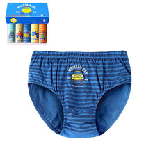 5pcs/box Striped Boys Briefs Underwear Cotton Quality Stretchy Blue Panties Kids Clothes 8 9 10 11 12 Years Old OBU203112