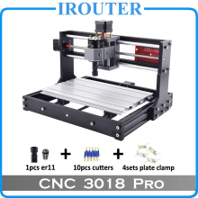CNC3018Pro withER11, diy мини ЧПУ гравировальный станок, лазерная гравировка, Pcb ПВХ фрезерный станок, деревообрабатывающий станок, cnc лазер, cnc 3018 pro