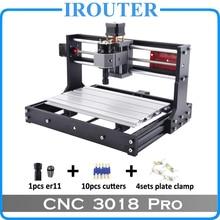 CNC 3018Pro withER11, bricolage mini machine de gravure, gravure laser, fraiseuse PVC Pcb, routeur bois, laser CNC, 3018 pro