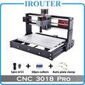 CNC3018Pro withER11  diy mini cnc gravur maschine  laser gravur  Pcb PVC Fräsen Maschine  holz router  cnc laser  cnc 3018 pro-in Holzfräsemaschinen aus Werkzeug bei