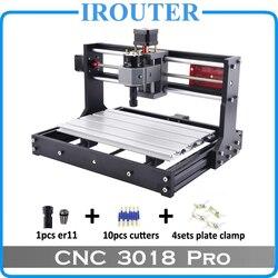 CNC3018Pro withER11, mini máquina de grabado cnc diy, grabado láser, fresadora de PVC Pcb, enrutador de madera, cnc láser cnc 3018 pro