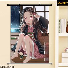 Demon Slayer Kimetsu No Yaiba Kny Kanroji Kamado kimono ass sexy loli cameltoe cartoon anime poster wall scroll canvas painting(China)