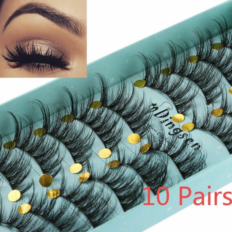10 Pairs Of 3D False Eyelashes Long And Elegant Fluffy Natural Long Eyelashes Handmade Hardcover False Eyelashes