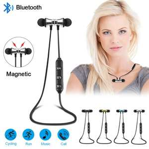 Magnetic Earbuds Mic Headset V4.2 Stereo Earphone Wireless Sports Bluetooth
