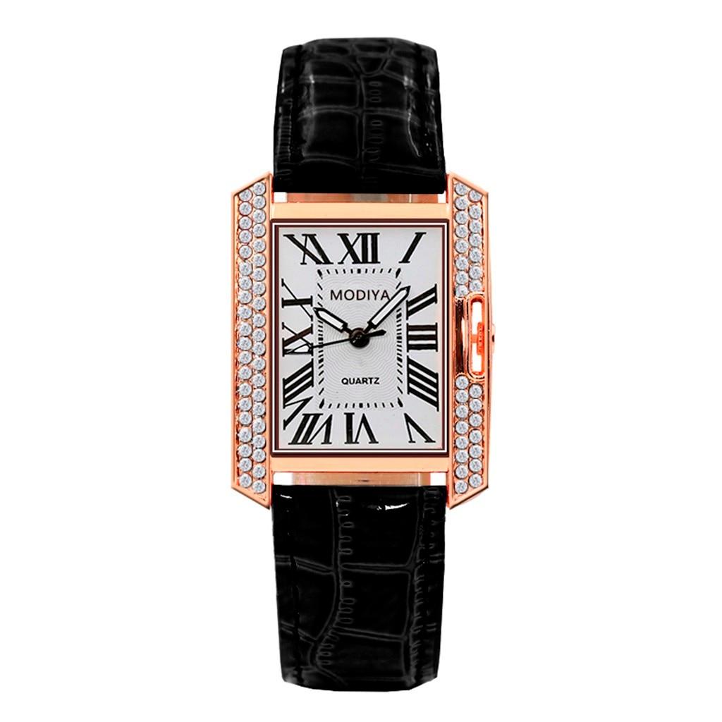 Women Watches 2020 Women's Luxury Quartz Plastic Leather Band Diamond Wrist Watch Valentine Clock Gift Luxury Reloj Femenino 1