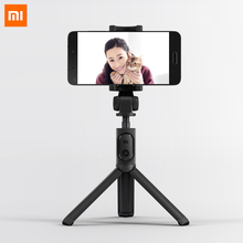 цена Original Xiaomi Foldable Tripod Monopod Selfie Stick Bluetooth With Wireless Button Shutter Selfie Stick For iOS/Android/Xiaomi онлайн в 2017 году