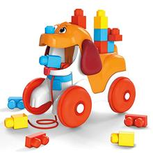 Mega Bloks-doggie rides, construction toy for babies from 12 months (Mattel GNW63)