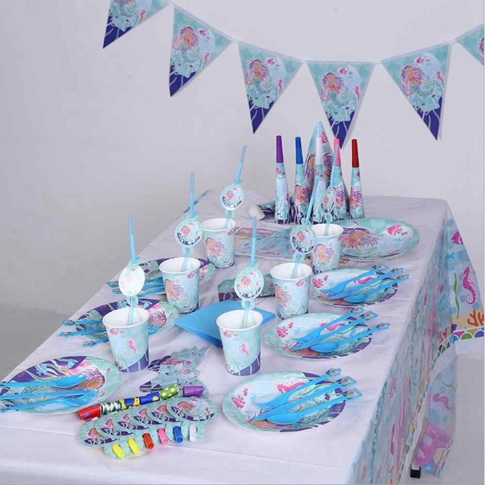 Taoup 1 pieza lentejuelas de Color degradado pequeño llavero de cola de sirena decoración de fiesta con diseño de feliz cumpleaños para niñas niños adornos de tema sirena
