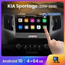 AWESAFE PX9 para KIA Sportage 3, 2010, 2011, 2012, 2013, 2014, 2015, 2016 Radio de coche DVD GPS de navegación No 2 din Android 10,0 2GB + 32GB