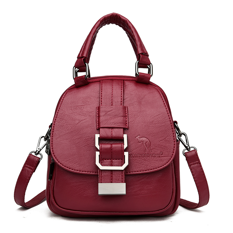 Multifunction Casual Leather Women Backpacks High Quality Female Back Pack Ladies Shoulder Bags For Women 2020 Travel Backpack