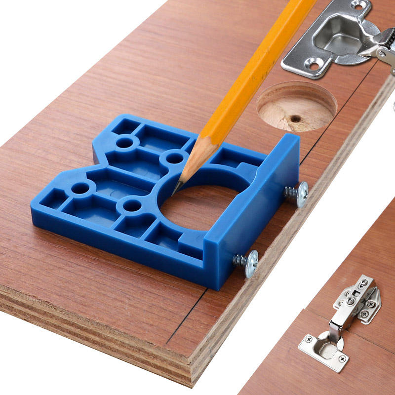35mm Hinge Jig ABS Plastic Hinge Installation Wood Drill Guide Hinge Hole Boring Furniture Door Cabinets Tool For Carpentry