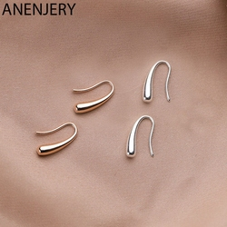 ANENJERY Personality Water Drop Silver Rose Gold Earrings Silver Color Small Cute Earring For Women Girl Gifts S-E1160
