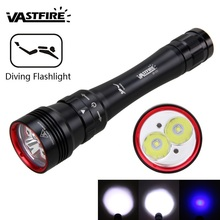 2000 lumens Professional Powerful led Waterproof Scuba Diving Flashlight Diver Light LED Underwater Torch Lamp Lanterna panyue 1000lm xml t6 led waterproof scuba diver diving flashlight underwater flash light torch
