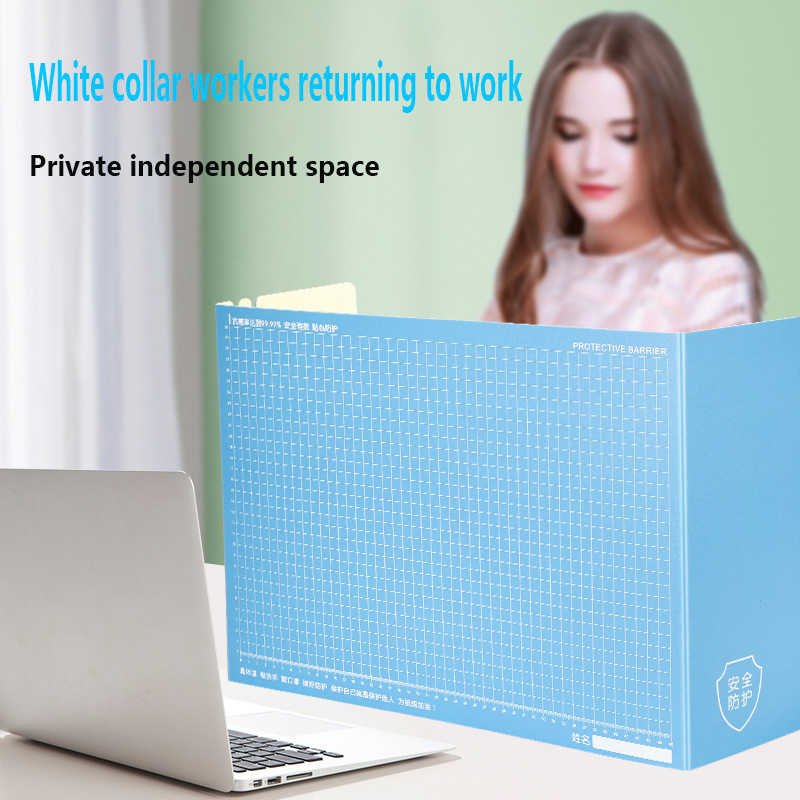 2PCS Anti-Spray Isolation Board Baffle Student Dining Isolation Baffle Divide Counter Window Table Mat Mouse Pad to Prevent Cough and Sneeze Barrier Green+Pink Color : 2PCS
