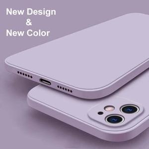 Image 1 - สำหรับ iPhone 12 Pro กรณี Luxury Original ซิลิโคนเหลวสำหรับ iPhone 11 Pro X XR XS Max 7 8 Plus กรณีโทรศัพท์กันกระแทก