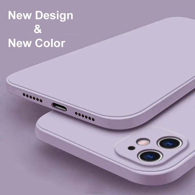 สำหรับ iPhone 12 Pro กรณี Luxury Original ซิลิโคนเหลวสำหรับ iPhone 11 Pro X XR XS Max 7 8 Plus กรณีโทรศัพท์กันกระแทก