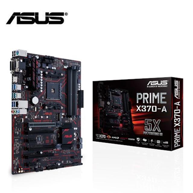 ASUS motherboard prime x370 a am4 ryzen 4xddr4 HDMI DVI m.2 sata USB 3.1 brand new original ATX x370 материнская плата 2011